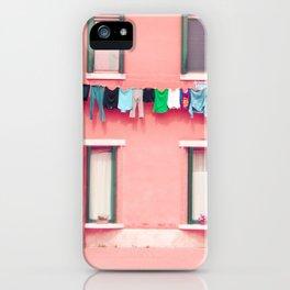 Laundry Venice Italy Travel Photography iPhone Case