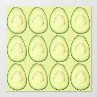 avocado Canvas Prints featuring avocado by Panic Junkie
