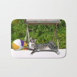 Vacation Time - Beach Bum Kitty Bath Mat