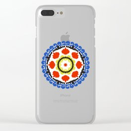 Bold and bright beauty of suzani patterns ver.5 Clear iPhone Case