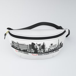 Las Vegas skyline black Fanny Pack