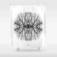 scary Shower Curtains featuring Scary trees are scary by Pietro Bellini