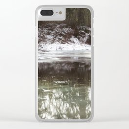 Icy Reflections Clear iPhone Case