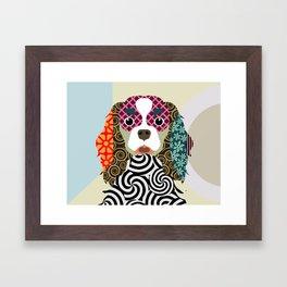 king charles cavalier spaniel Framed Art Print