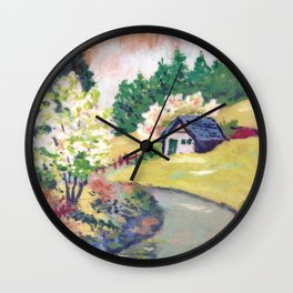 Spring Alpine Wall Clock