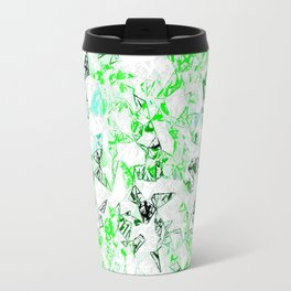 green heart shape abstract with white abstract background Travel Mug