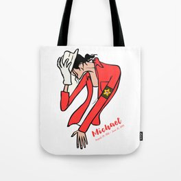 ***Ltd Edition: Jackson moonwalk t-shirt Tote Bag