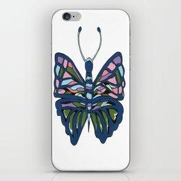 Butterfly In Blue iPhone Skin