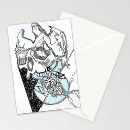 heart skull Stationery Cards
