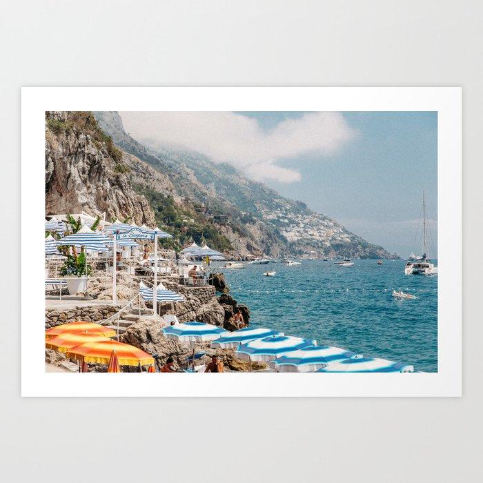 Beach Club in Positano Kunstdrucke