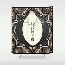 Deer T tile 7 Shower Curtain