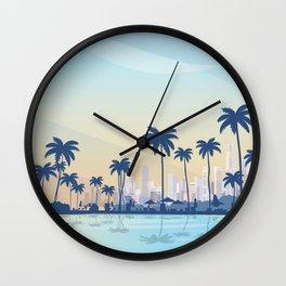 Panama travel poster Wall Clock