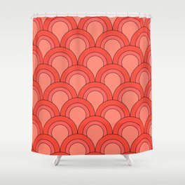 Fish Scales (coral) Shower Curtain