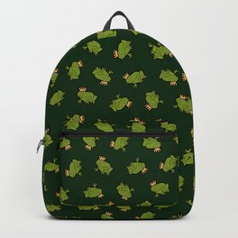 Frog Prince Pattern Backpack