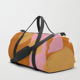 Minimalist Abstract Fun Mid Century Colorful Shapes Pink Yellow Ochre Shapes Duffle Bag