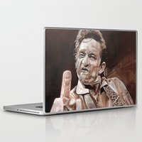 johnny cash Laptop & iPad Skins featuring Johnny Cash by Ray Stephenson