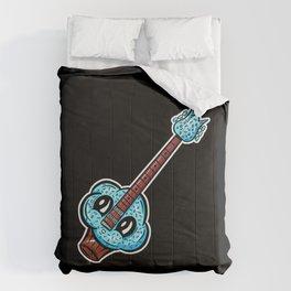 Sweet Cupcake Guitar - Cute Blue Sprinkles Cupcake Cartoon Comforters