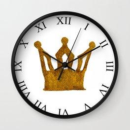 Golden Crown I Wall Clock
