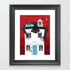 The Halloween Series - The Monster That Lives On Your Roof Framed Art Print
