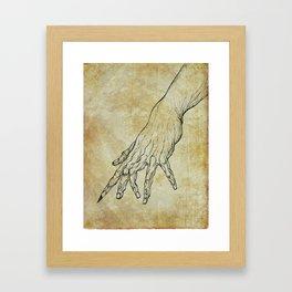 The Sixth Finger of the Writer Framed Art Print