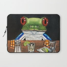 """""""Tequila Frog"""" - Frogs After Five collection Laptop Sleeve"""