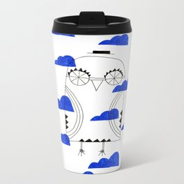 Blue Clouds Metal Travel Mug