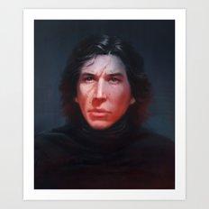 Kylo Ren Portrait Art Print