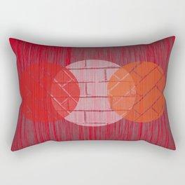THREE BRICKS ON SPLINTERED WOOD  Rectangular Pillow