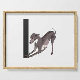 I is for Italian Greyhound Serving Tray