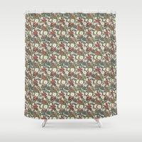 internet Shower Curtains featuring Internet Wallpaper by Matt Hunsberger