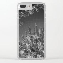 Future City Dark Clear iPhone Case