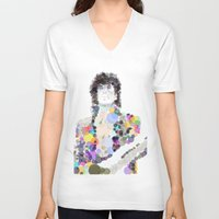 prince V-neck T-shirts featuring Prince by Zooey Art