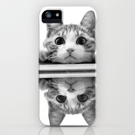 Cat reflected iPhone Case