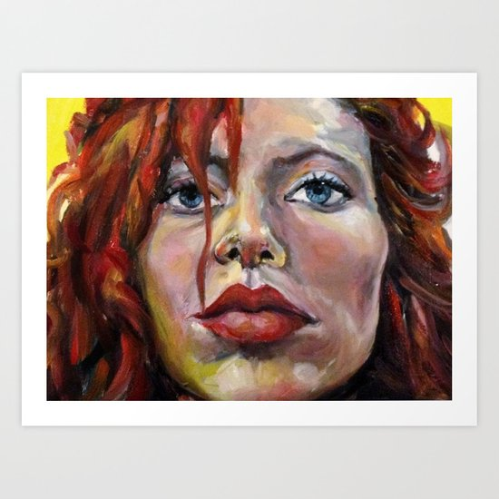 Exaggerated self portrait! Art Print