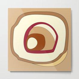 Breakfast in pastel colors - abstract digital art Metal Print