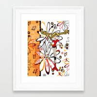 volleyball Framed Art Prints featuring Volleyball Bright  by KiKi Spike Volleyball Stuff!