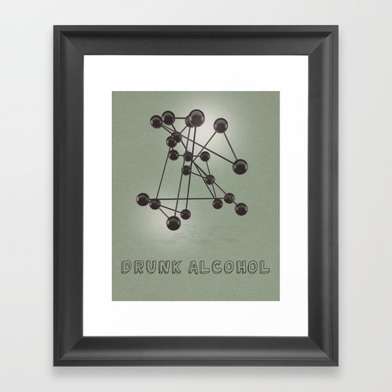 Drunk Alcohol Framed Art Print