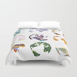 Globes Duvet Cover