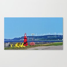 Coastal Windmill Park Canvas Print