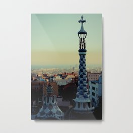 Barcelona: View from Parc Guell Metal Print