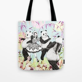 Panda Dance Tote Bag