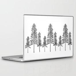 Pine Trees – Black Ink Laptop & iPad Skin