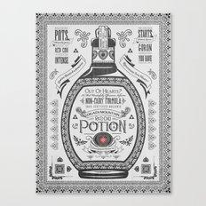 Legend of Zelda Red Chu Potion Advertisement Canvas Print