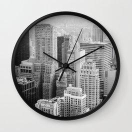 Black and White NYC V2 Wall Clock