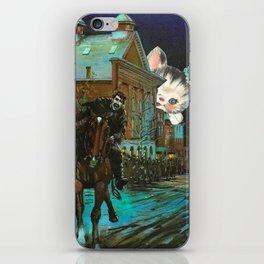 Death is cute kitten handcut collage iPhone Skin