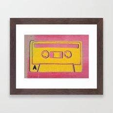 Cassette Tape - Side A Framed Art Print
