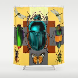 BUGGY INSECT LOVERS ART Shower Curtain