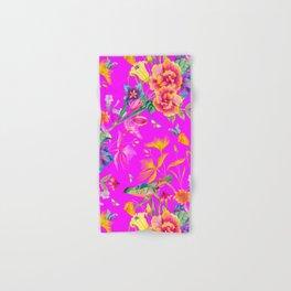 Bold Summer Print on Magenta Pink Hand & Bath Towel