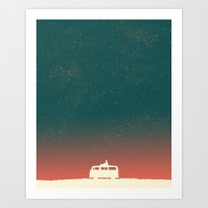 Quiet Night - starry sky Art Print