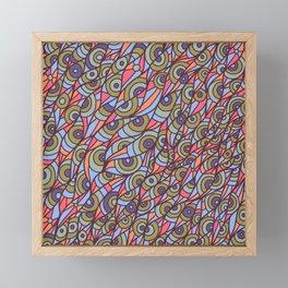 Eye Doodle Framed Mini Art Print